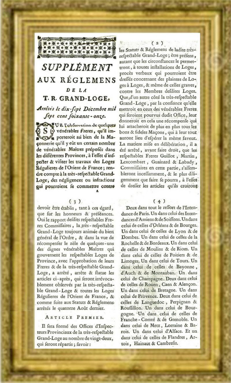 Vœux de la loge Marquis de La Fayette, loge de recherche de la Grande Loge de France.