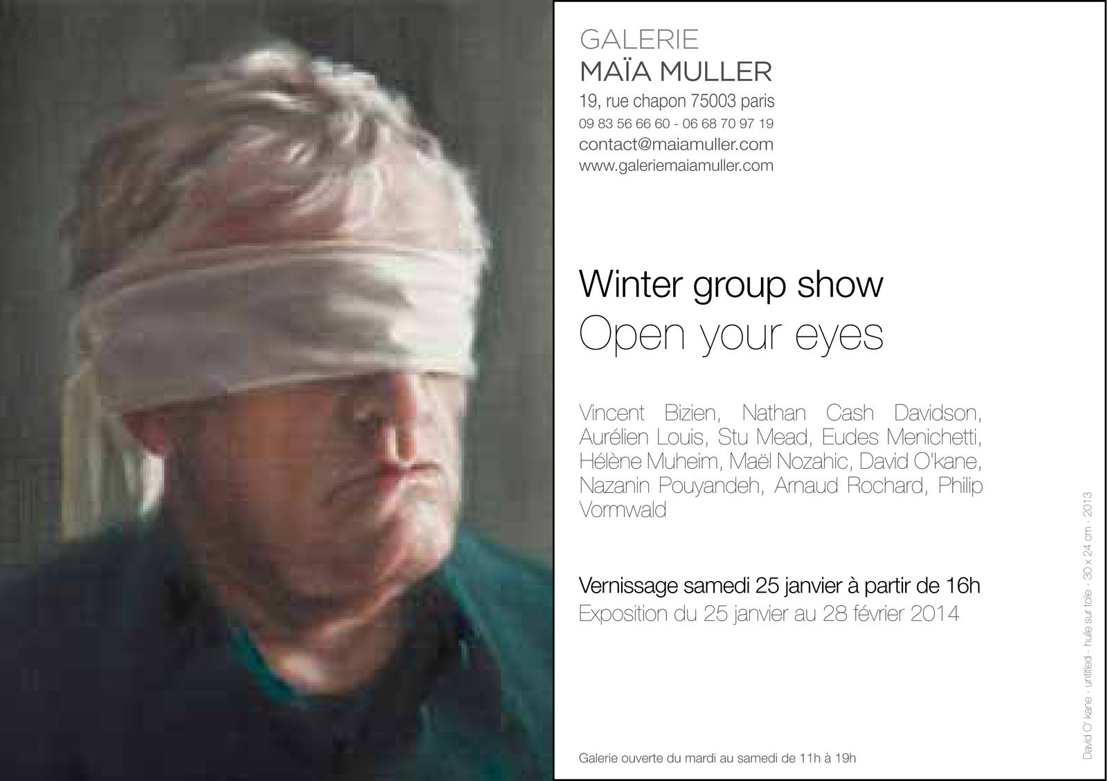 Expo Collective Contemporaine: Open your eyes * winter group show *