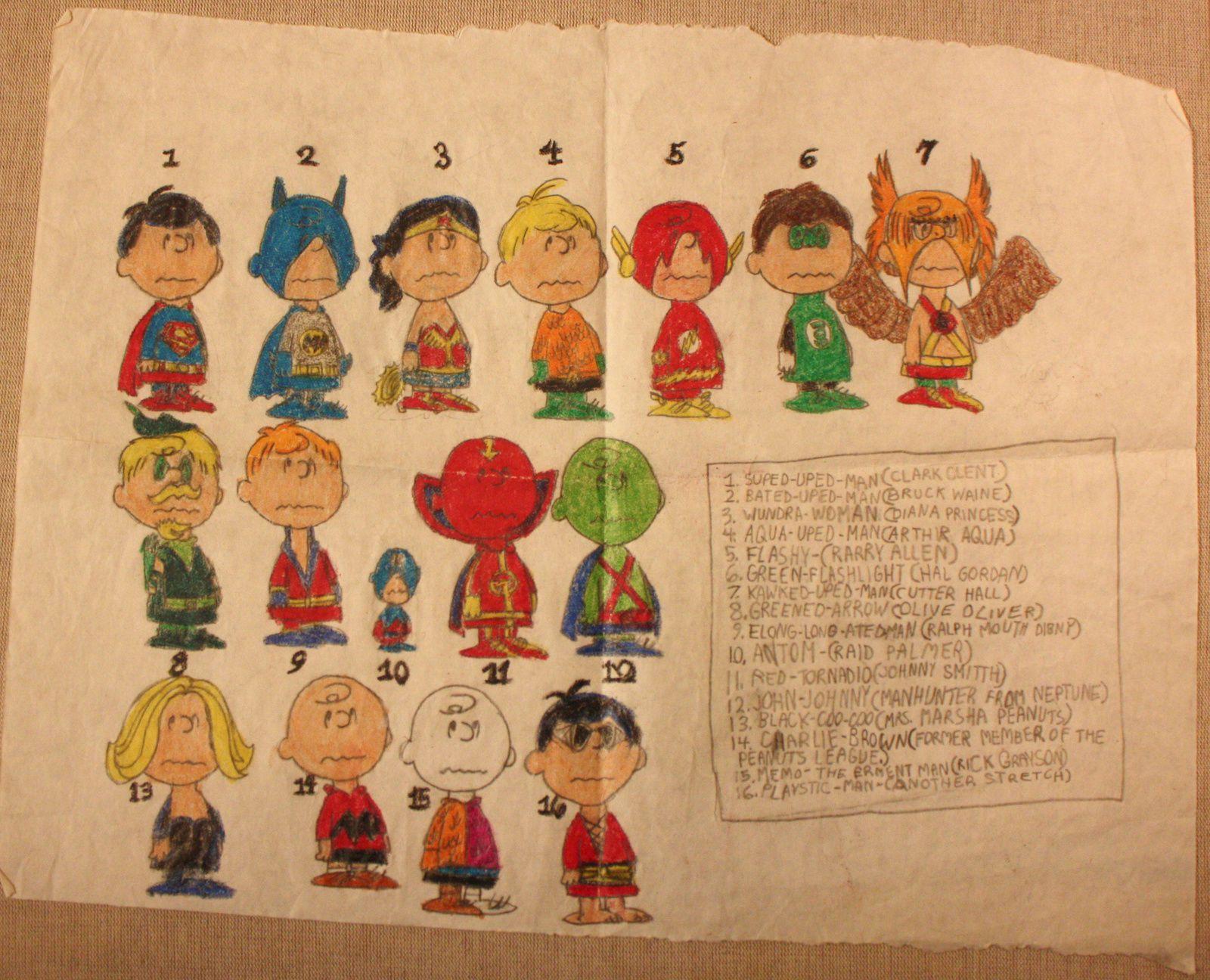 Versions de Charlie Brown a la ligue de justice, 1980 (10 ans)
