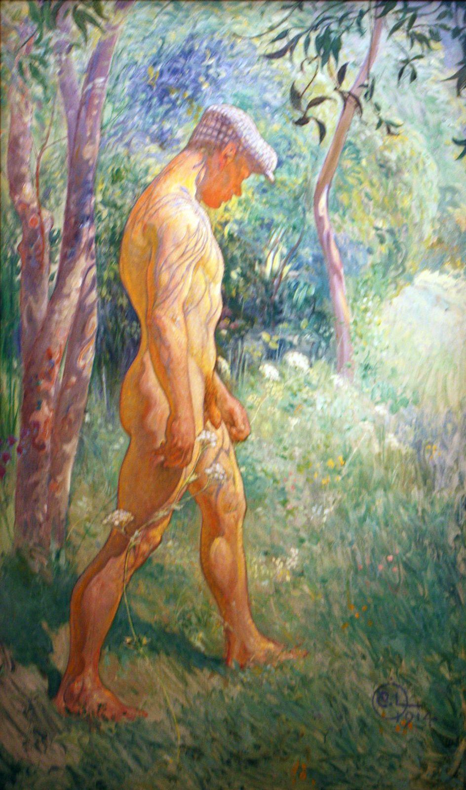 Modèle masculin, pour le sacrifice du solstice d'hiver, 1914