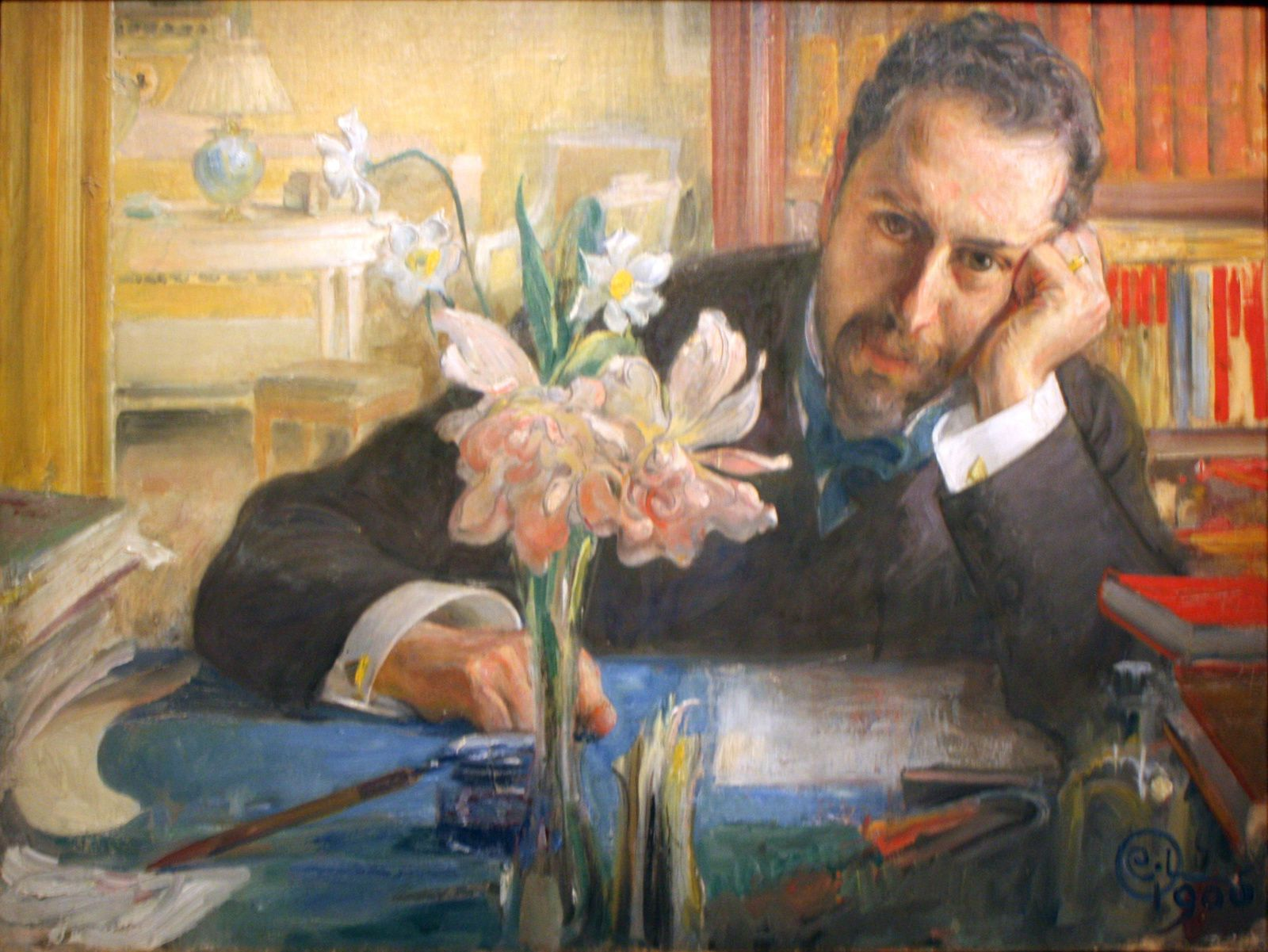 Portrait d'Oscar Levertin, 1906