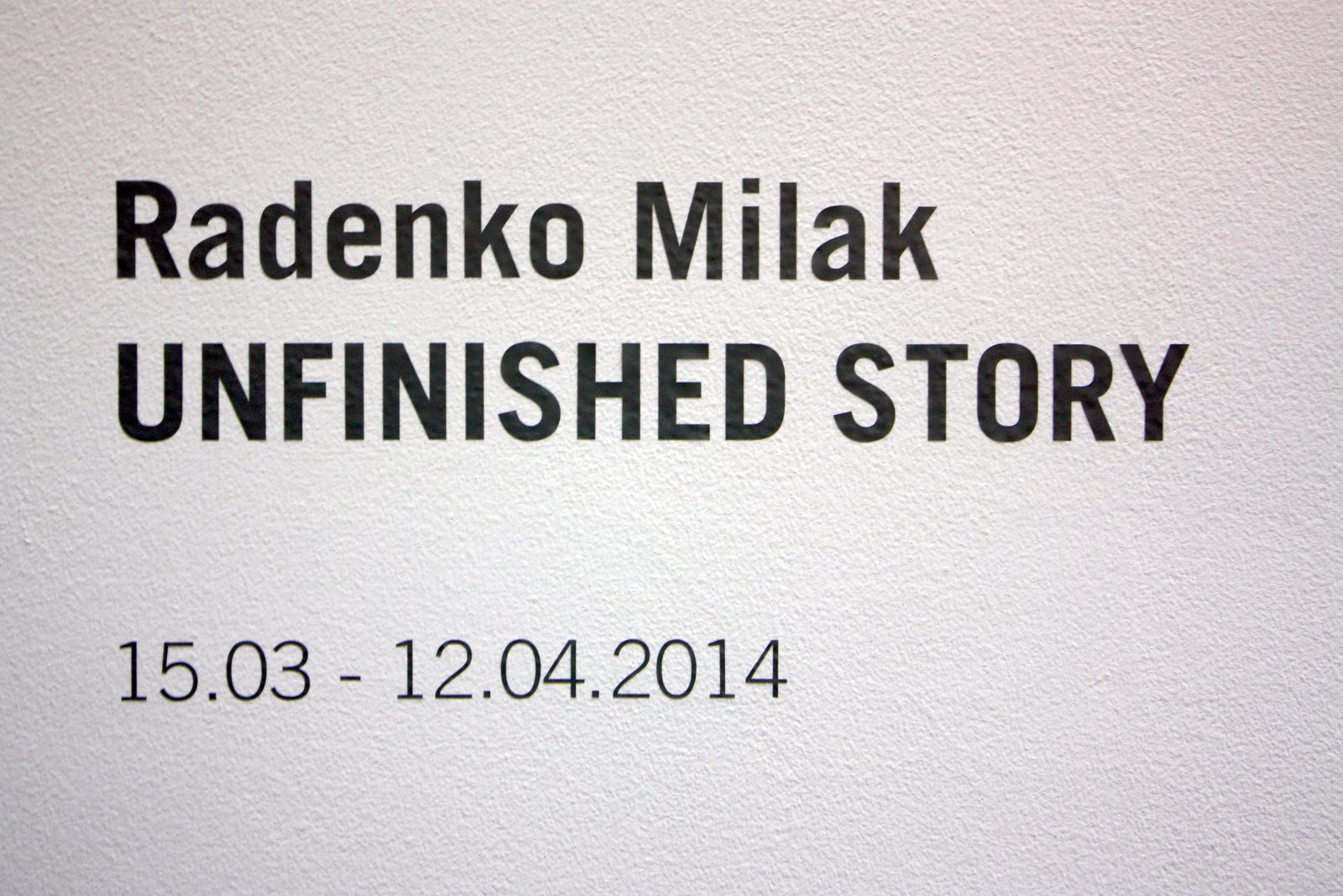 "Expo Dessin Contemporain: Radenko MILAK "" Unfinished story """