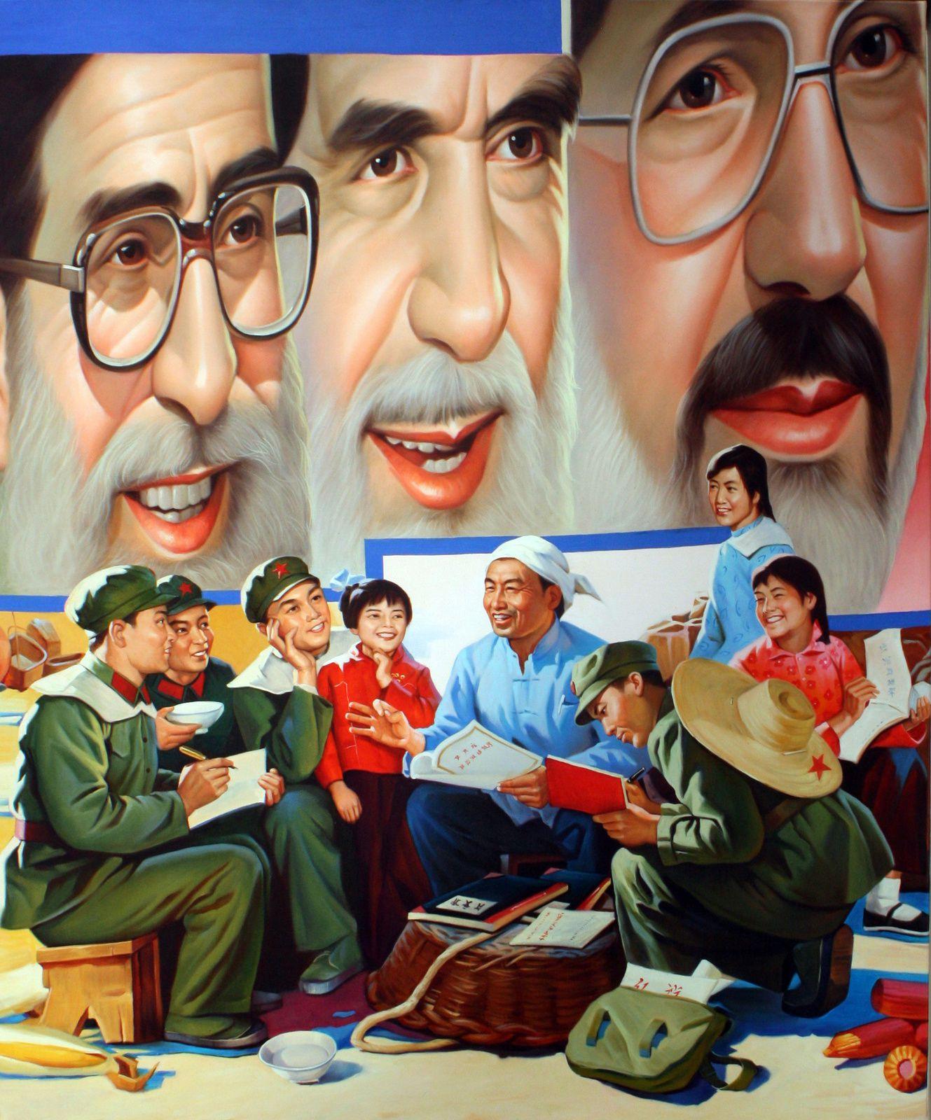 """Stadying Ayatollas"", 2000, ERRO"