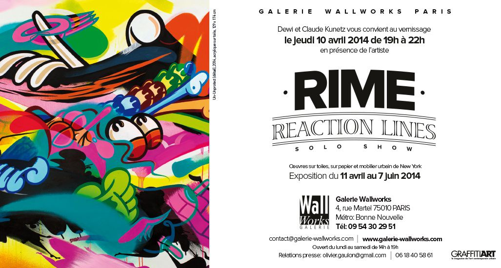 "Expo Street Art: R I M E "" REACTION LINES"""