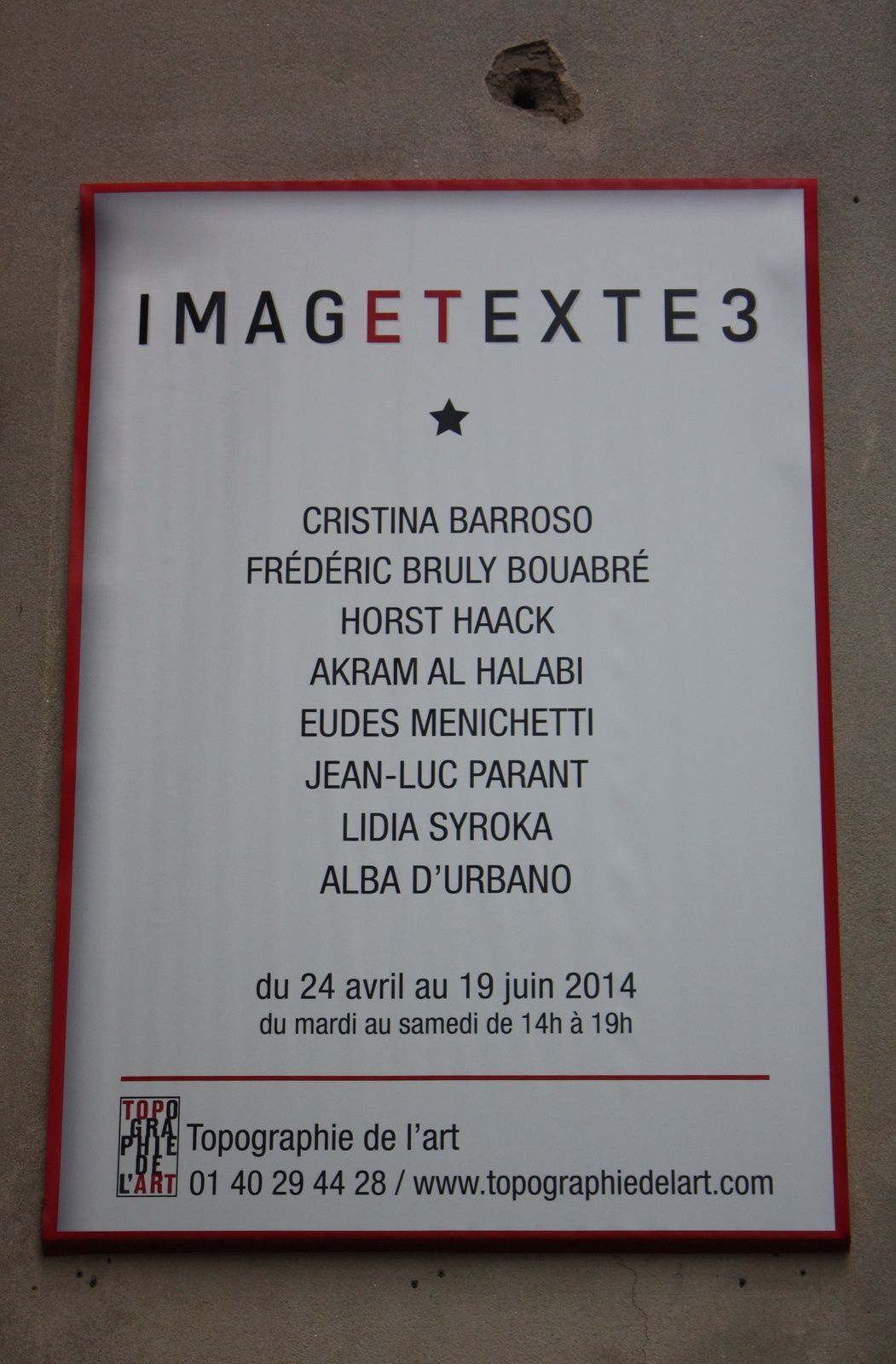 Expo Collective Contemporaine:  &quot&#x3B;IMAGETEXTE3&quot&#x3B;