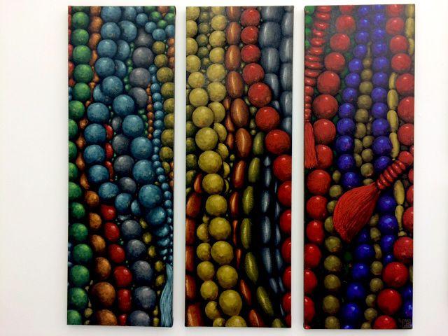 Les Perles Triptyques, 2014 d'Émilie BAZUS