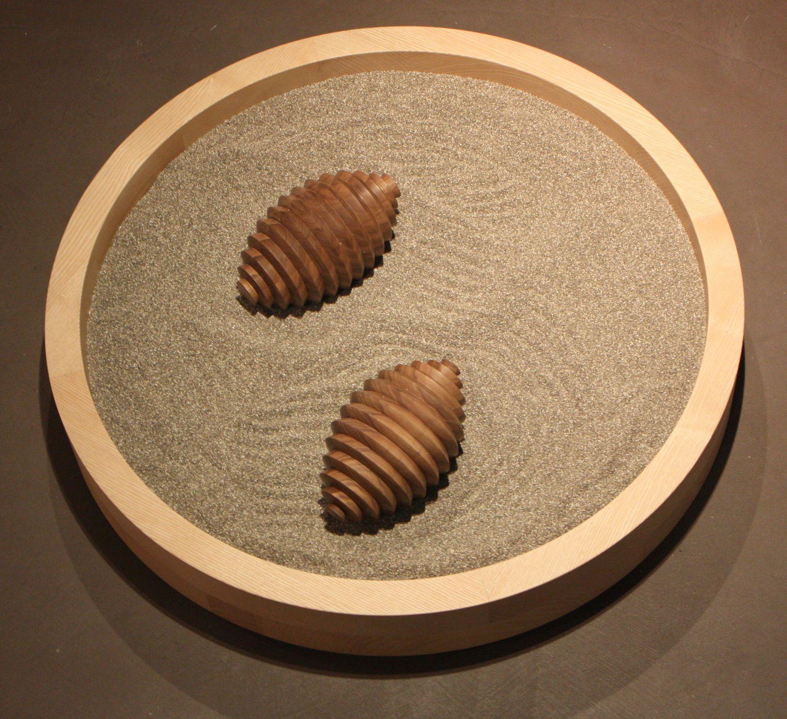 Jumeaux, noyer noir d'Amérique, frêne, sable, 2013