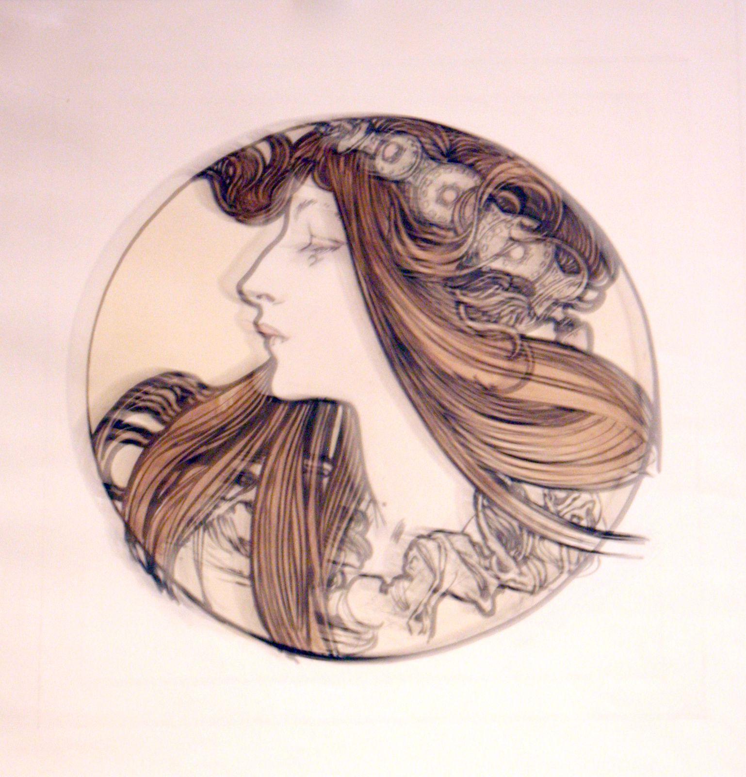 """""""Sans titre"""", 1900 d'Alfons mucha"""