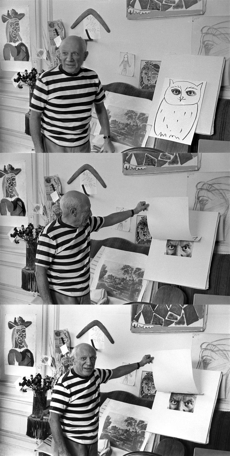 """Pablo Picasso, Cannes"""", 1957 de René Burri"""