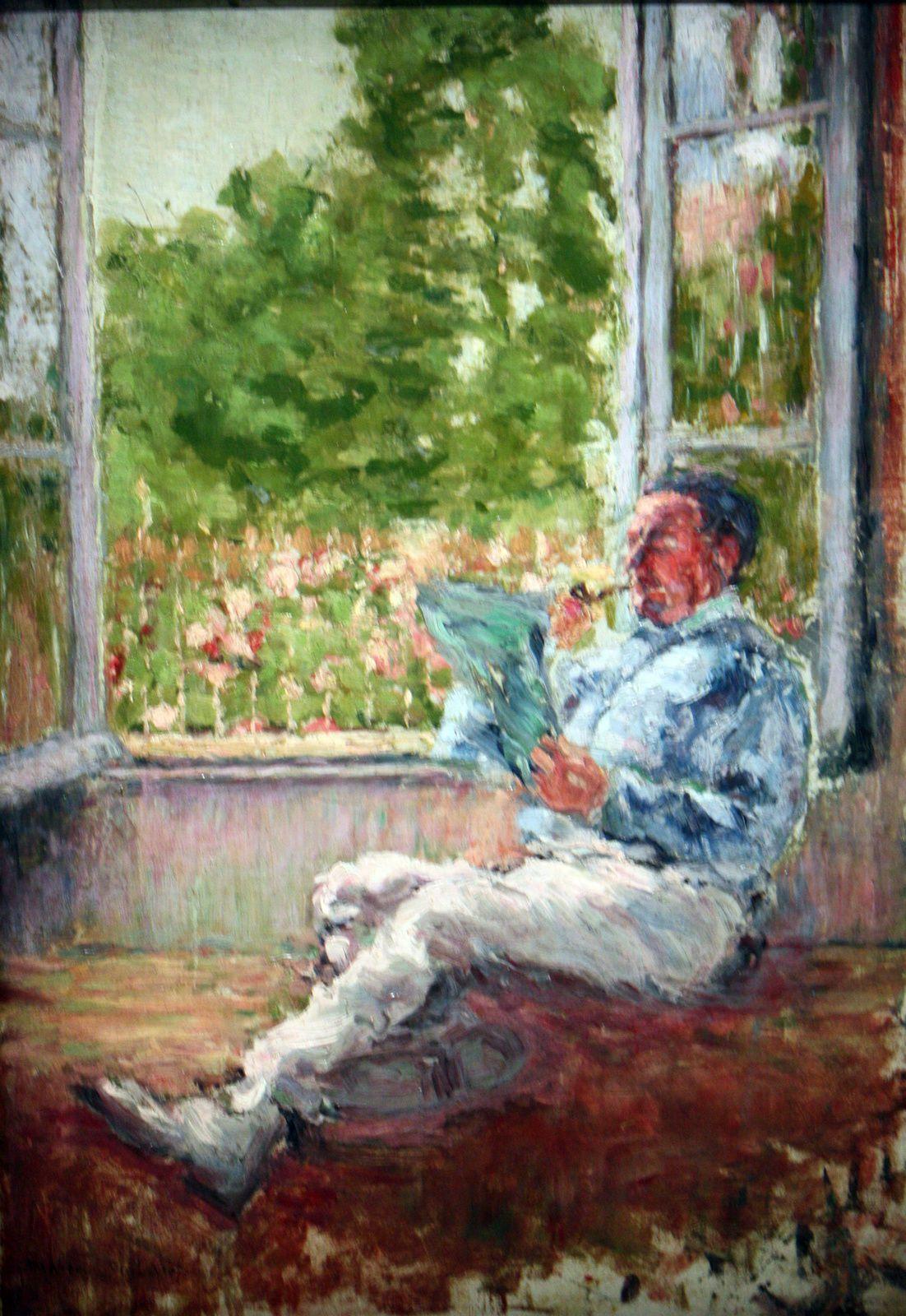 """""""""""Homme assi près Fenêtre"""", 1907 de Marcel Duchamp"""
