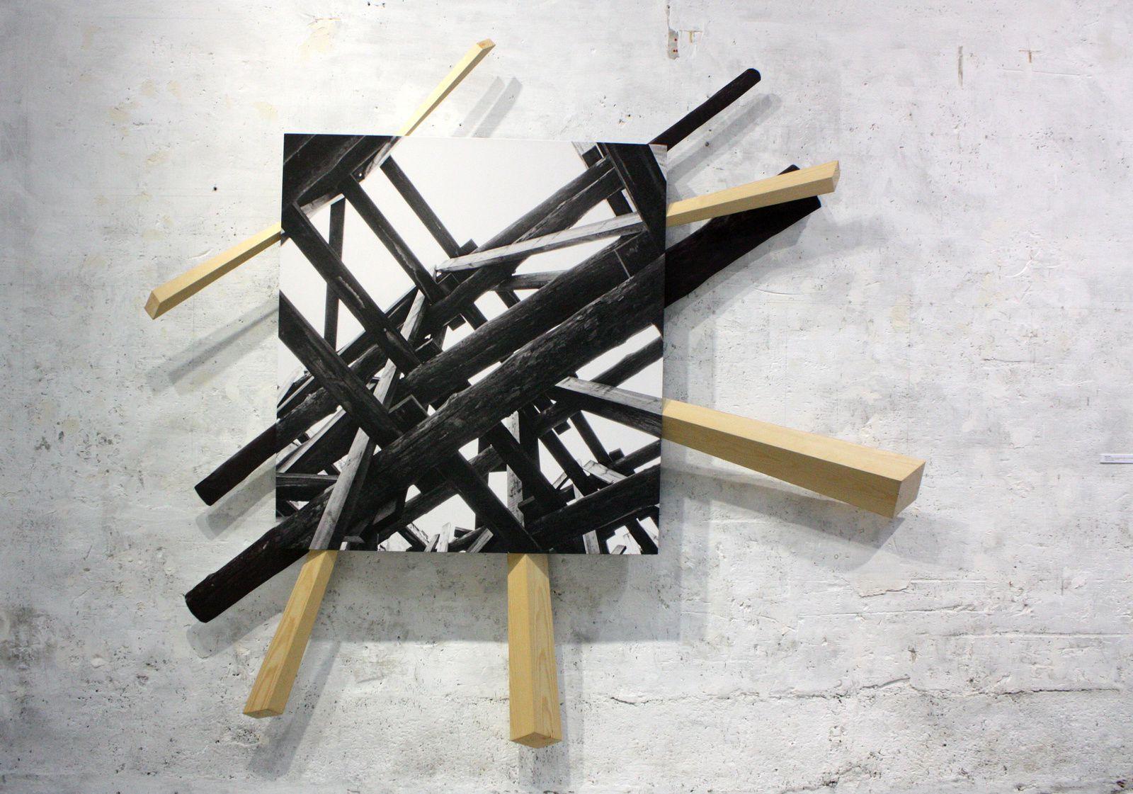 """""""Étaiement, trompe-oeil"""", 1977/2014 de Vera Röhm (Photo Eric Simon)"""