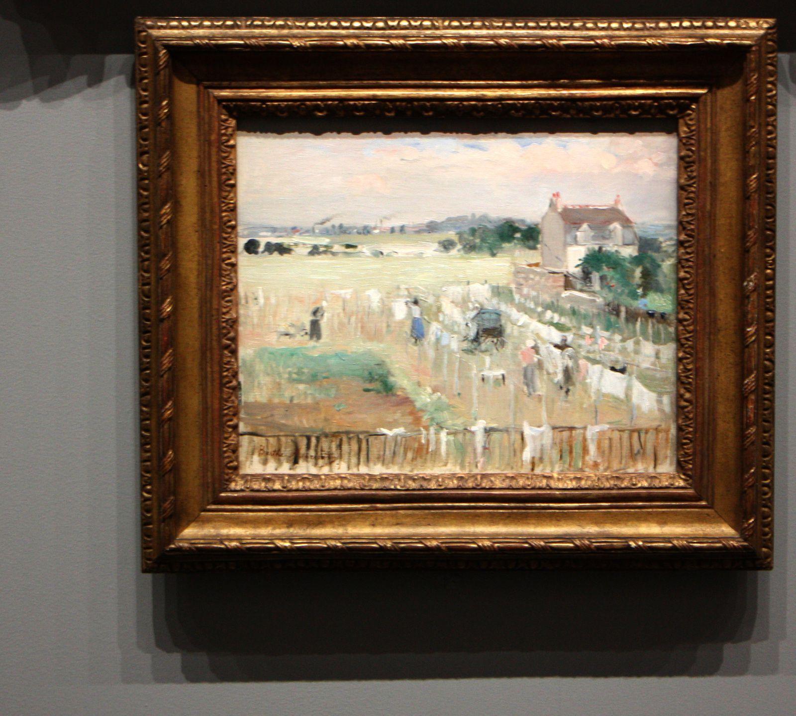 """Un percher de blanchisseuses"", 1873 de Berthe Morisot"