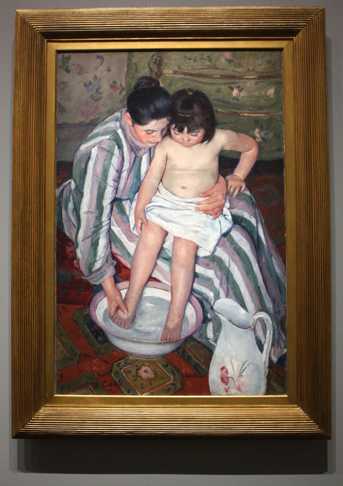 """""""Le bain de l'enfant"""", 1893 de Mary Cassatt"""