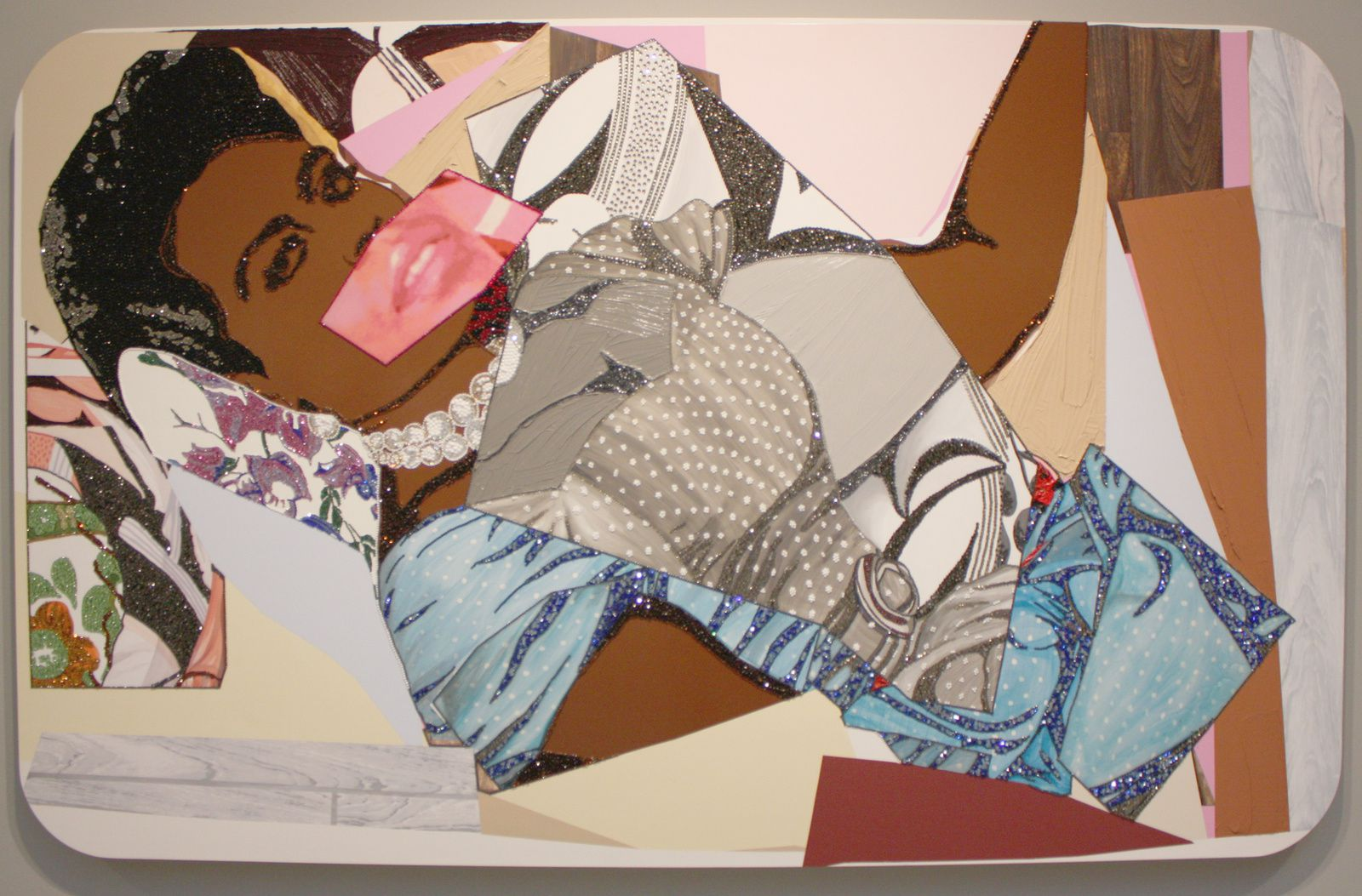 """Clarivel Centered"", 2014 de Mickalene Thomas © Photo Eric Simon"