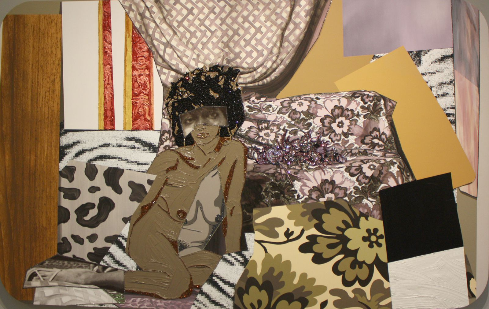 """Left behind 2"", 2014 de Mickalene Thomas © Photo Eric Simon"