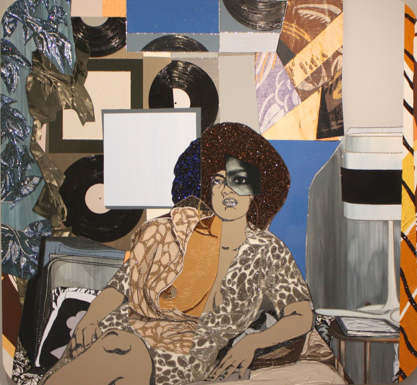 """Maya 2"", 2014 de Mickalene Thomas © Photo Eric Simon"