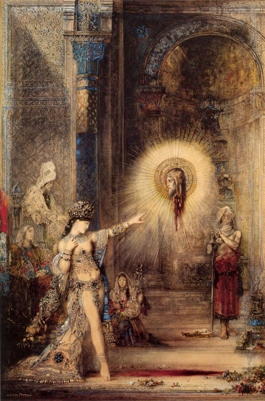 """L'apparition"", 1876 de Gustave Moreau"