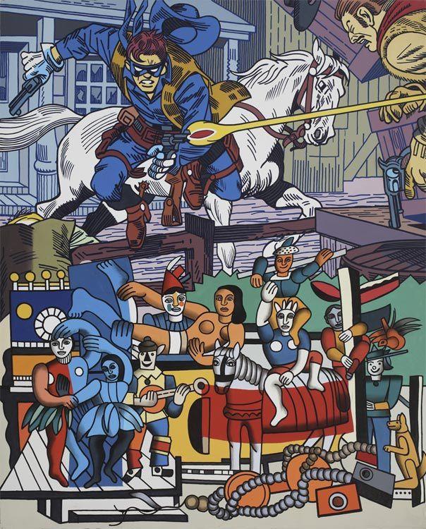 """""""Withe horse"""", 1977 de Erro © Galerie Louis Carré & Cie"""