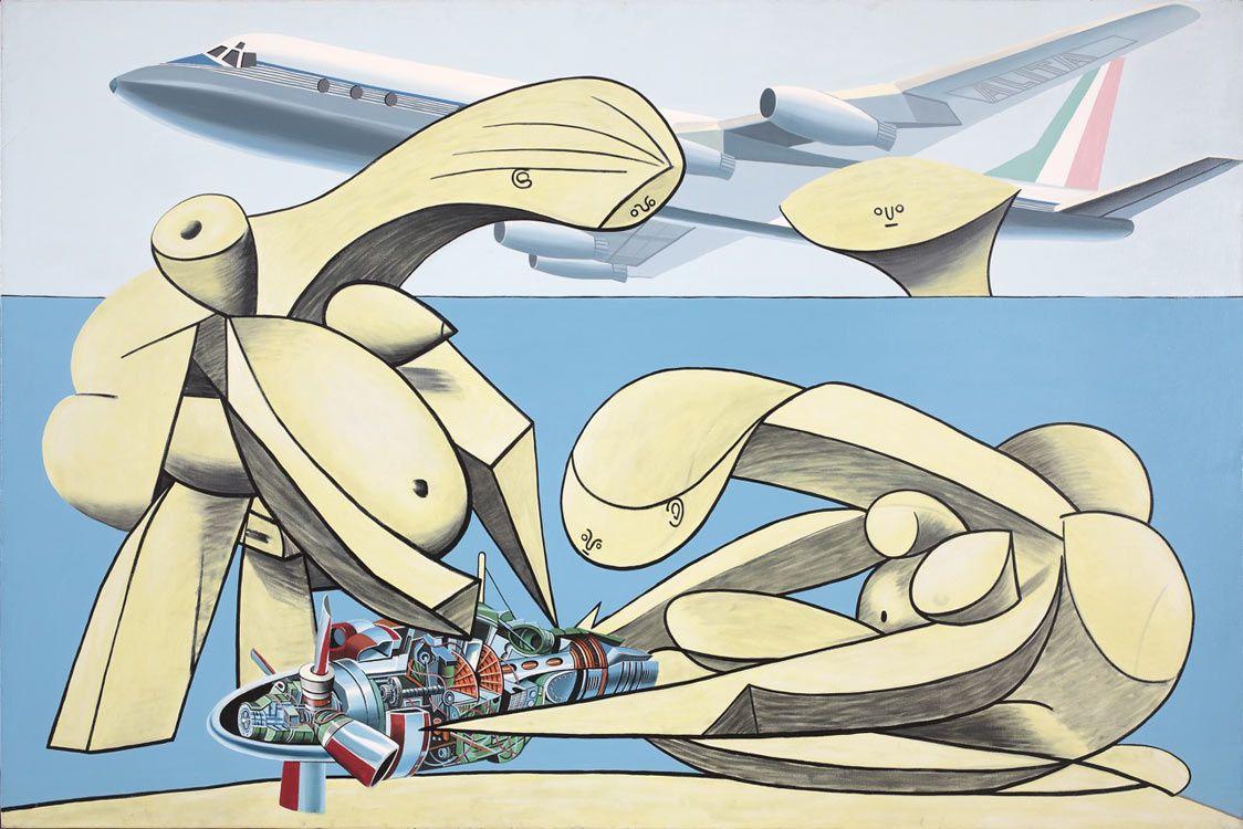 """""""Alitalia"""", 1969 de Erro © Galerie Louis Carré & Cie"""