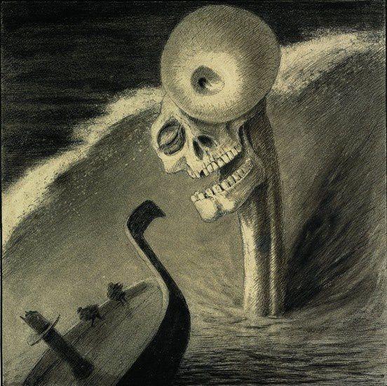 """""""L'épouvante"""", 1901 d'Alfred KUBIN"""