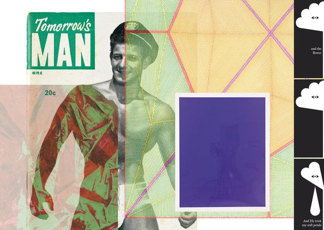 "Collage ""Tommorow's man"" de Jack Pierson"