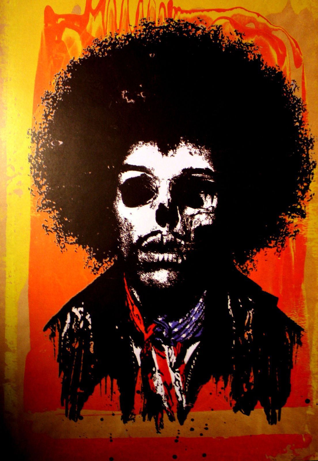 """Jimi Dead Rebel"" de Paul Insect © Photo Éric Simon Courtesy Galerie Le Feuvre"