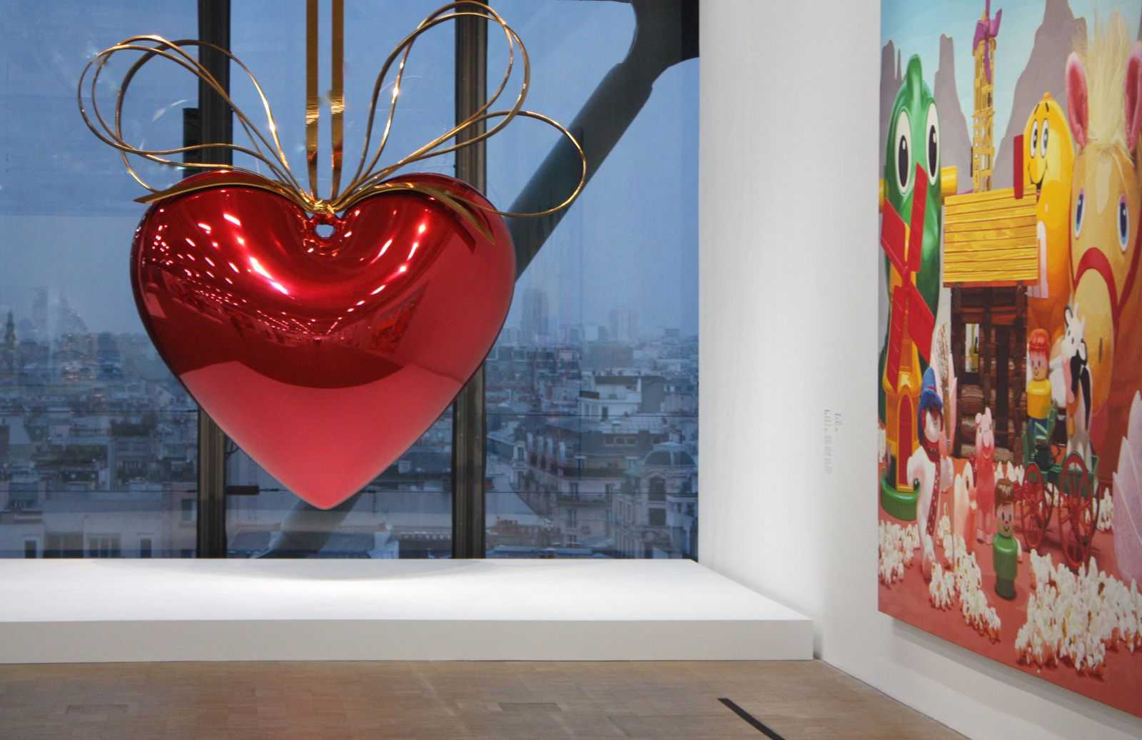 """Hanging Heart"", 1994-2000 de Jeff Koons © Photo Éric Simon"