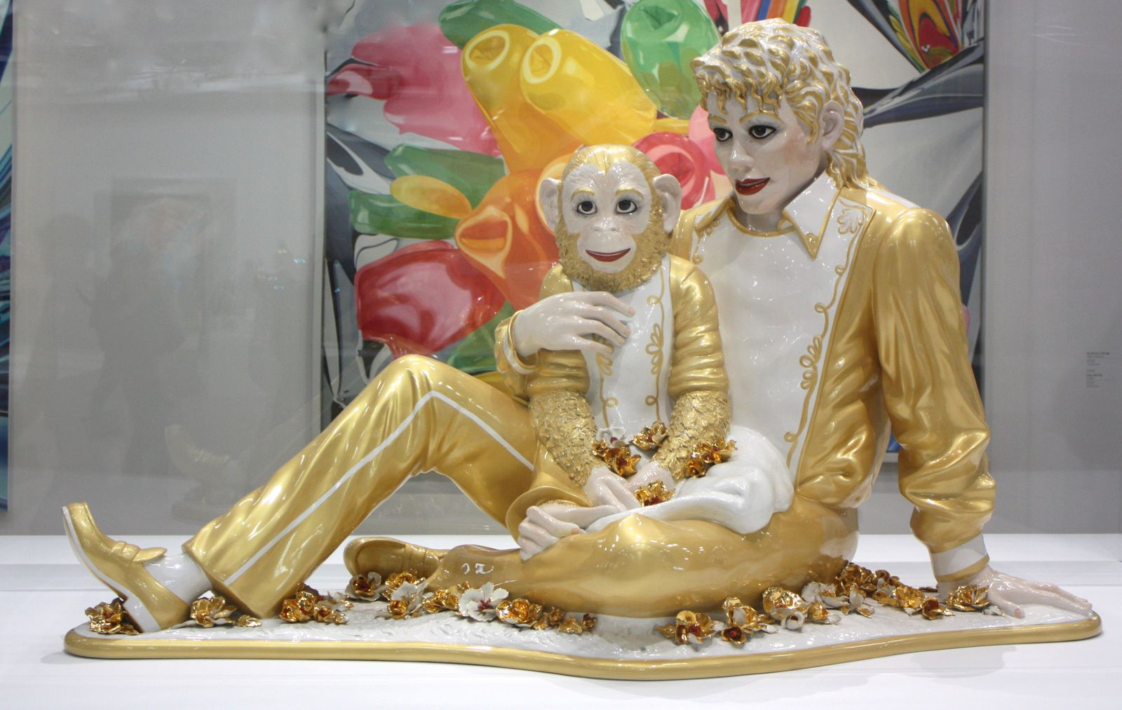 """Michael Jackson and Bubbles"", 1988 de Jeff Koons © Photo Éric Simon"
