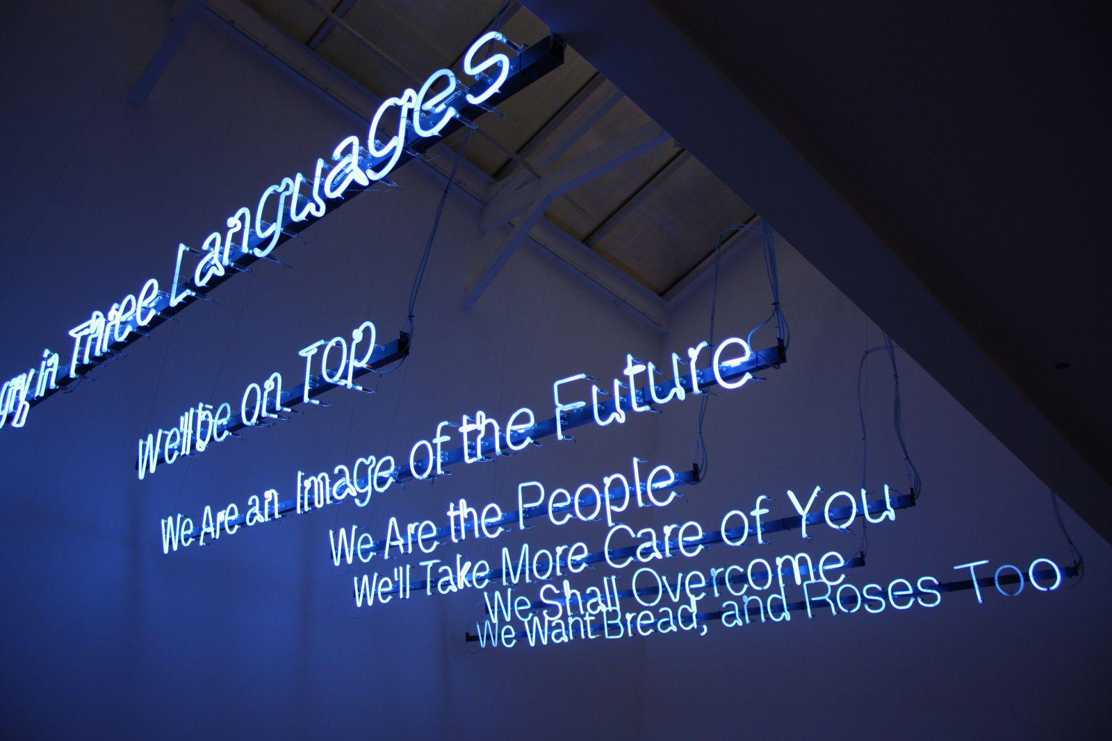 """To be continued"", 2014 de Maja Bajevic Courtesy Galerie Michel Rein © Photo Éric Simon"