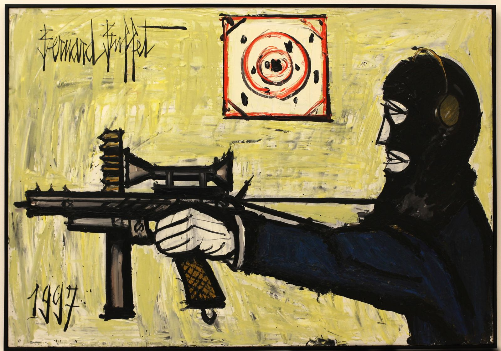 """Les brigands"", 1990 de Bernard Buffet Courtesy Almine Rech Gallery © Photo Éric Simon"