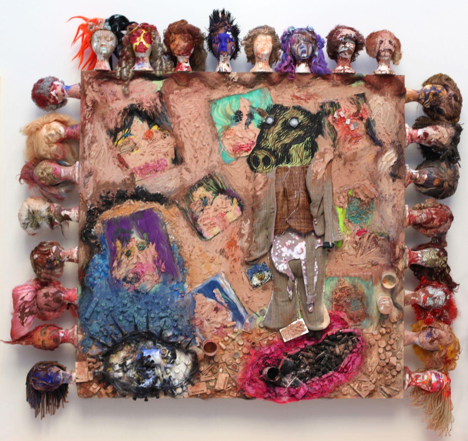 """""""Untitled"""", 2015 Bjarne Melgaard with Bob Racine and André Walker Courtesy Galerie Thaddaeus Ropac © Photo Éric Simon"""