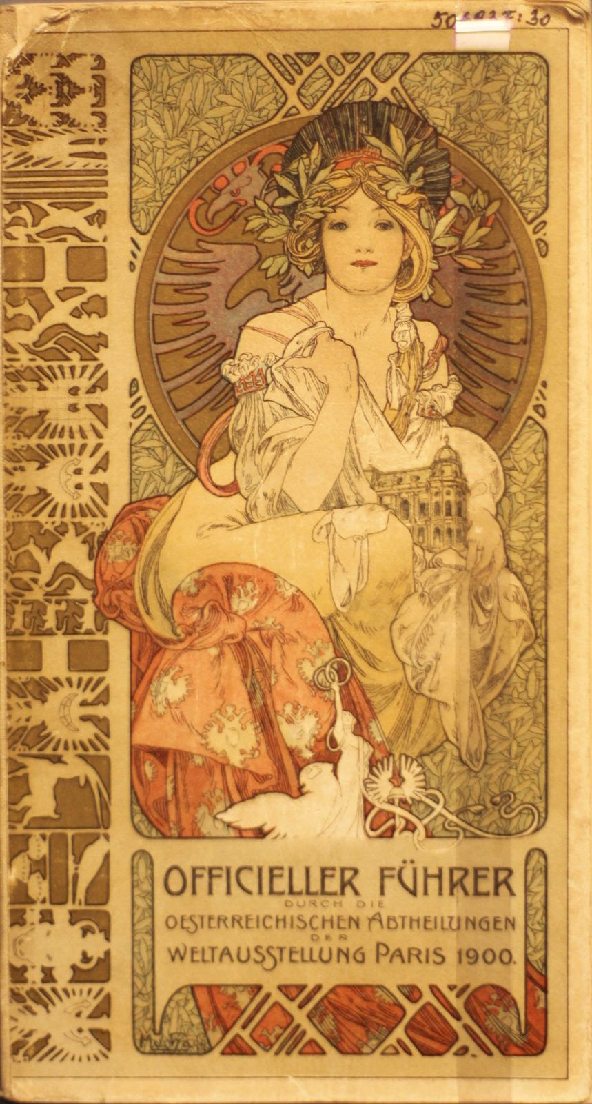 """Guide pour la section Autrichienne de l'exposition Universelle de Paris"", 1900 d'Alphonse Mucha © Photo Éric Simon"