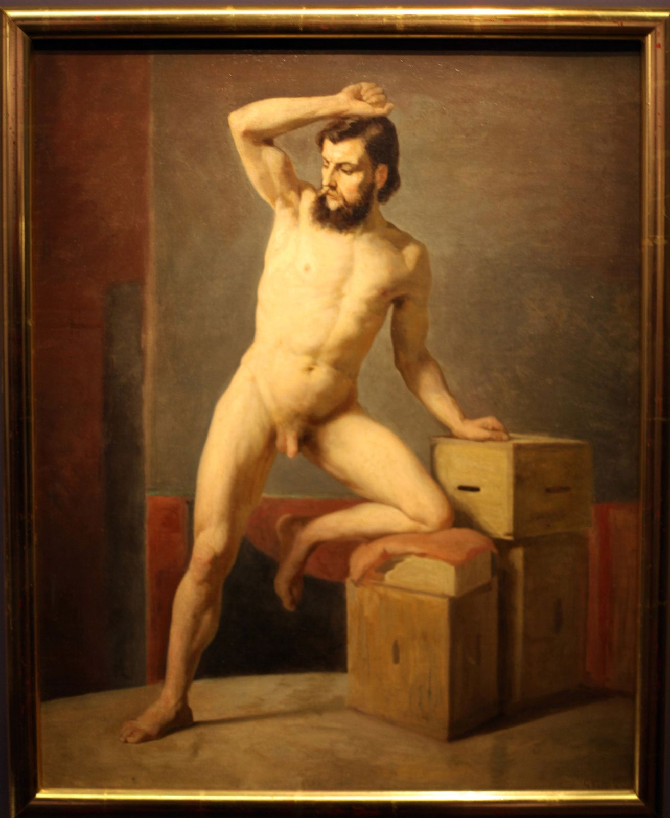 """Nu masculin"", 1883 de Gustav Klimt © Photo Éric Simon"