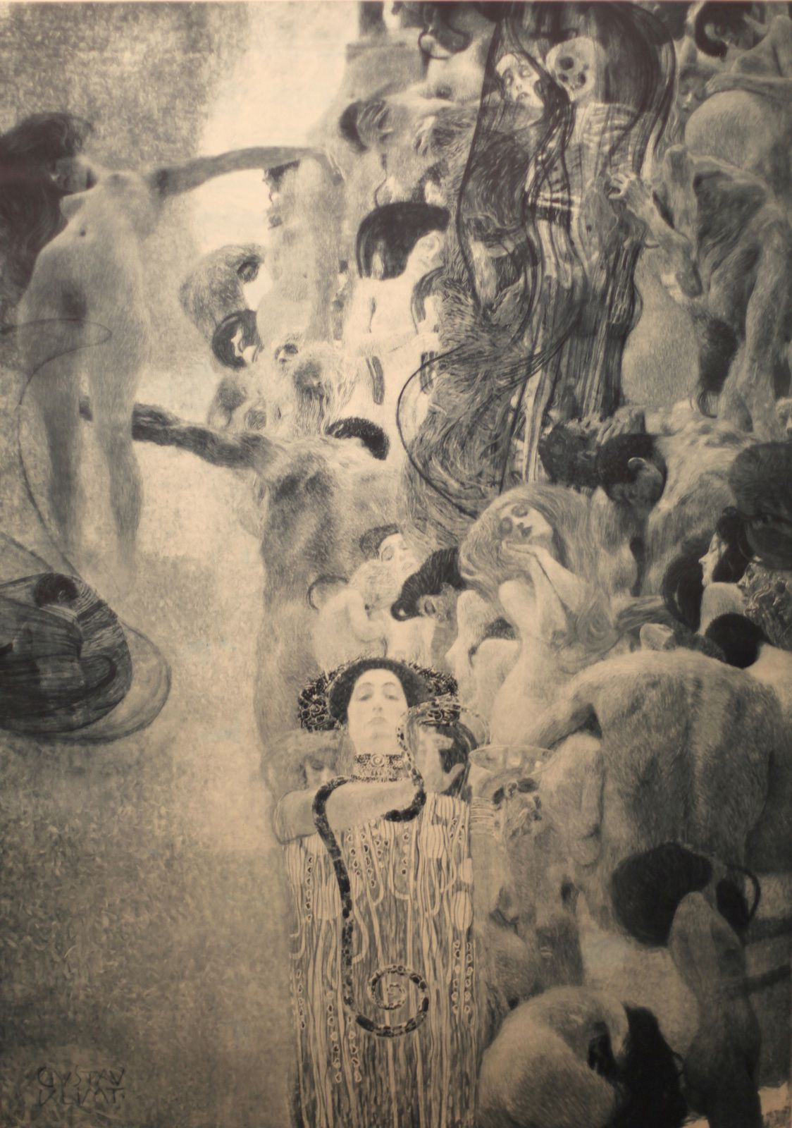 """Médecine"", 1903 de Gustav Klimt © Photo Éric Simon"