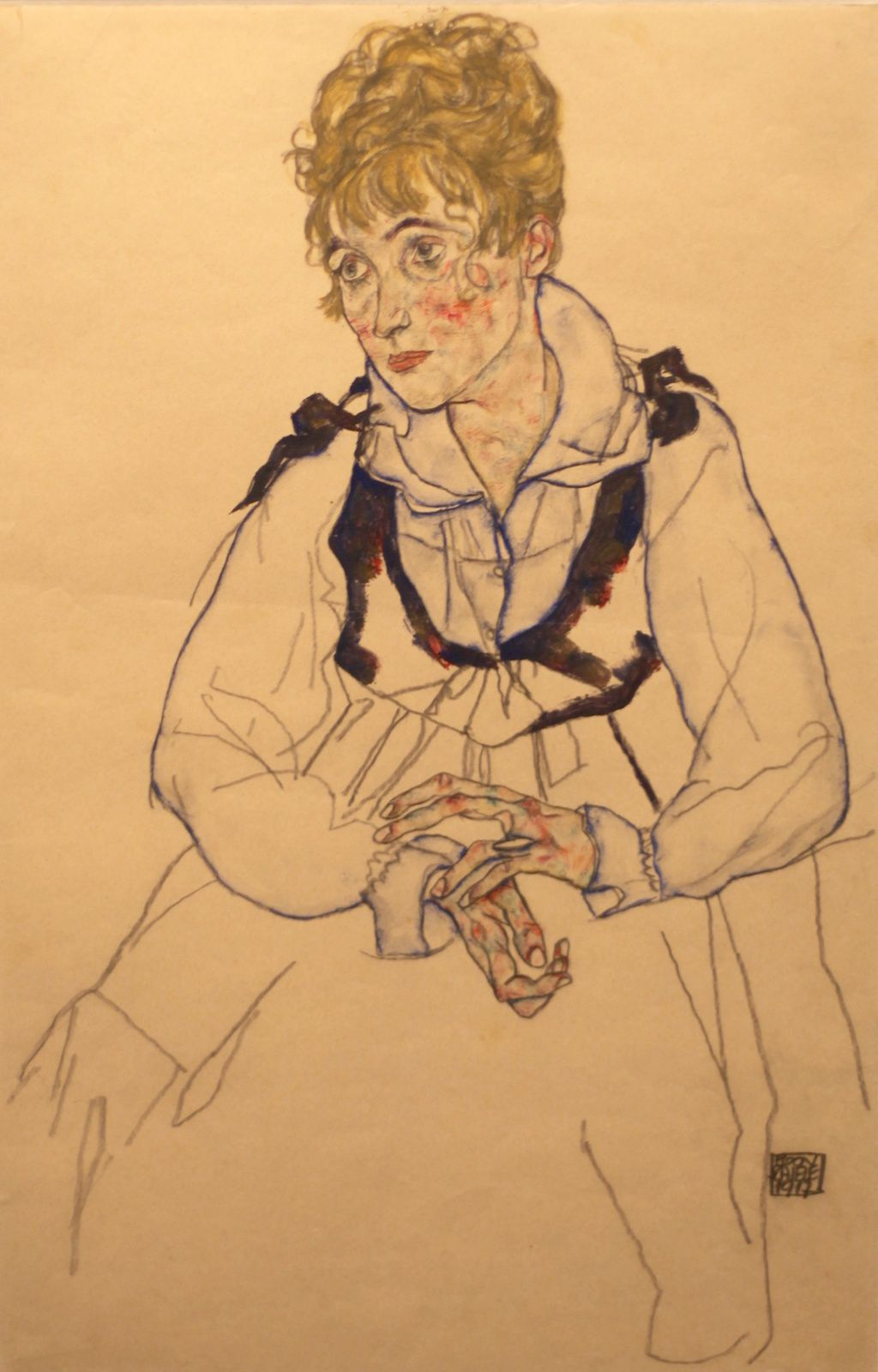 """Edith Schiele"", 1917 de Egon Schiele © Photo Éric Simon"