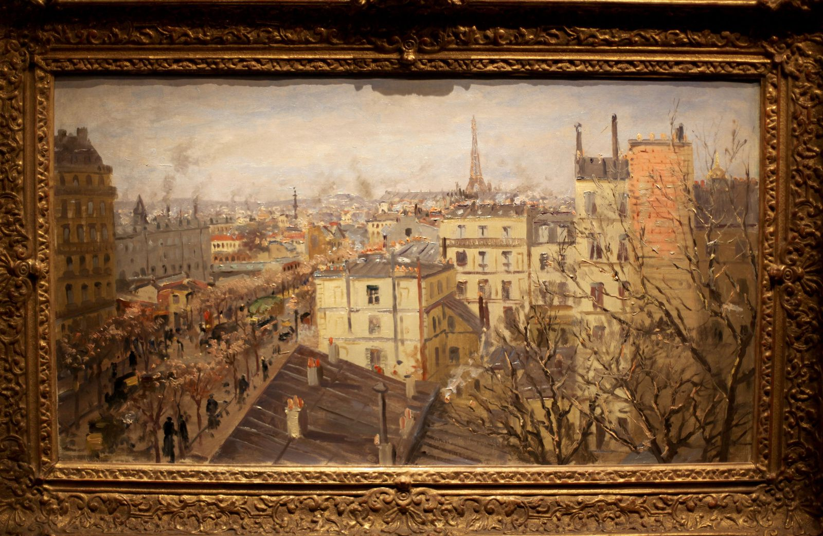 """Vue de Paris"", 1890 de Theodore Von Hörmann © Photo Éric Simon"