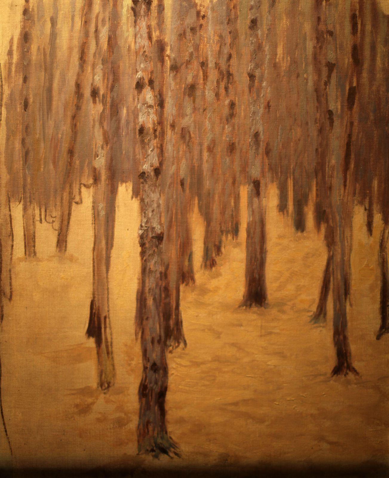 """""""Forêt de pins en hiver"""", 1907 de Koloman Moser © Photo Éric Simon"""