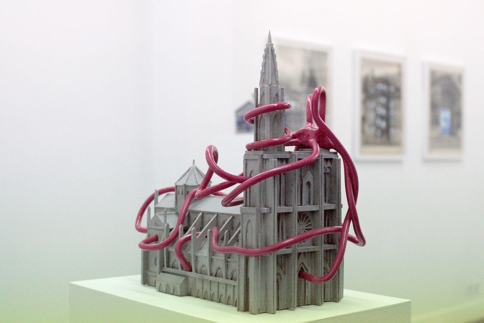 """""""La cathédrale de Strasbourg surmergée par l'émotion"""", 2014 de Sylvain Ciavaldini Courtesy Galerie Sator © Photo Éric Simon"""