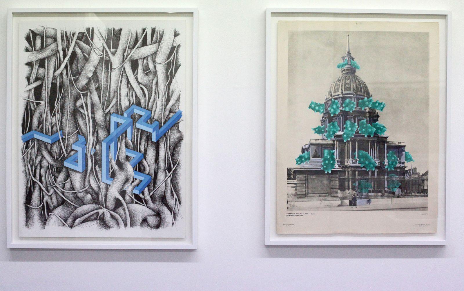 """""""Chapelle des Invalides déborde d'amour"""", 2014  de Sylvain Ciavaldini Courtesy Galerie Sator © Photo Éric Simon"""