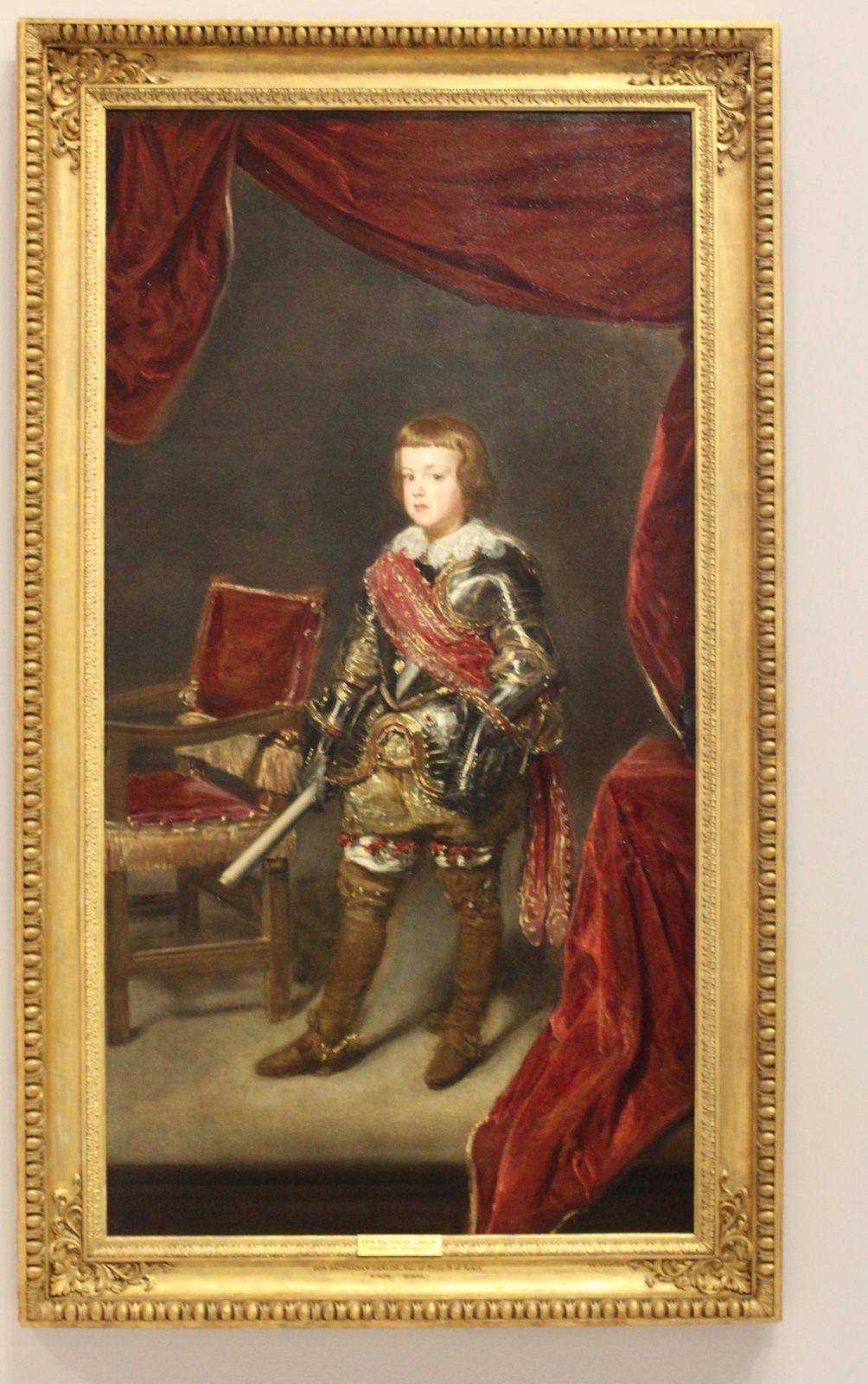 """""""Portrait de l'Infante Baltasar Carlos en armure"""", vers 1639 de Juan Batista Del Mazo"""