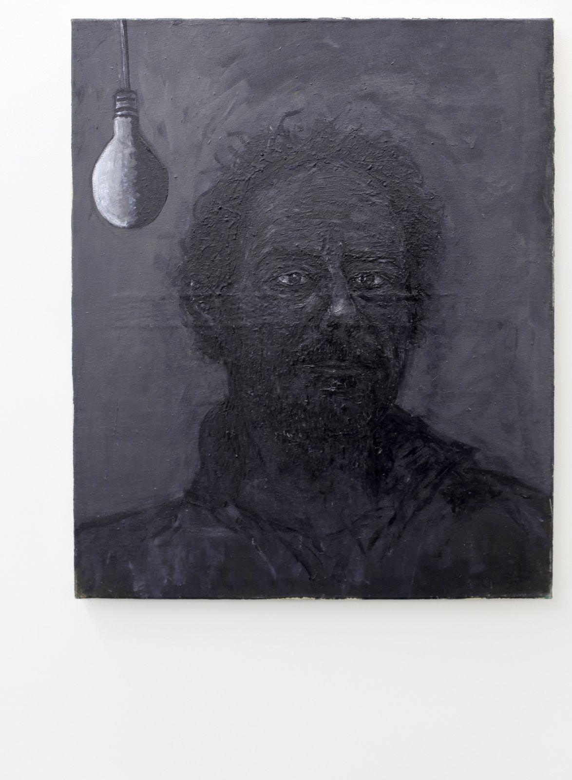 """""""Autoportrait lumière noire"""", 2014  d'Eric Corne Courtesy Galerie Patricia Dorfmann - Paris  © Photo Éric Simon"""