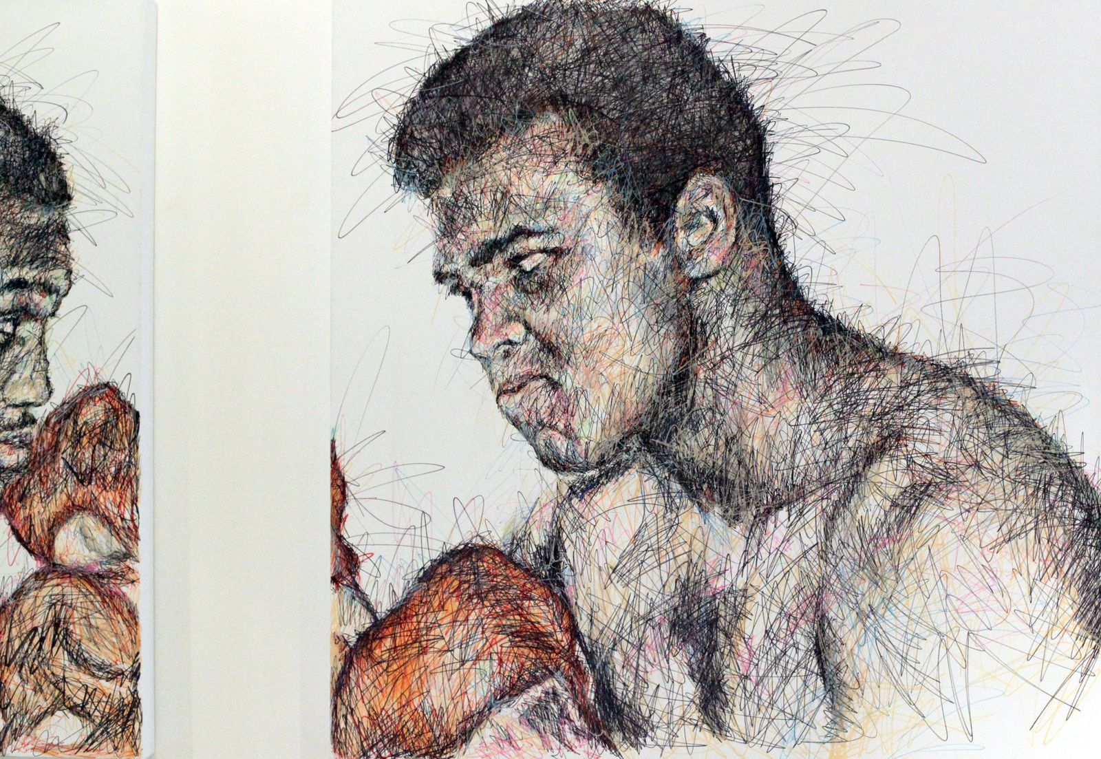 """Mohamed Ali VS Joe Frazier"", 2015 de Hom Nguyen Courtesy A2Z Art Gallery © Photo Éric Simon"