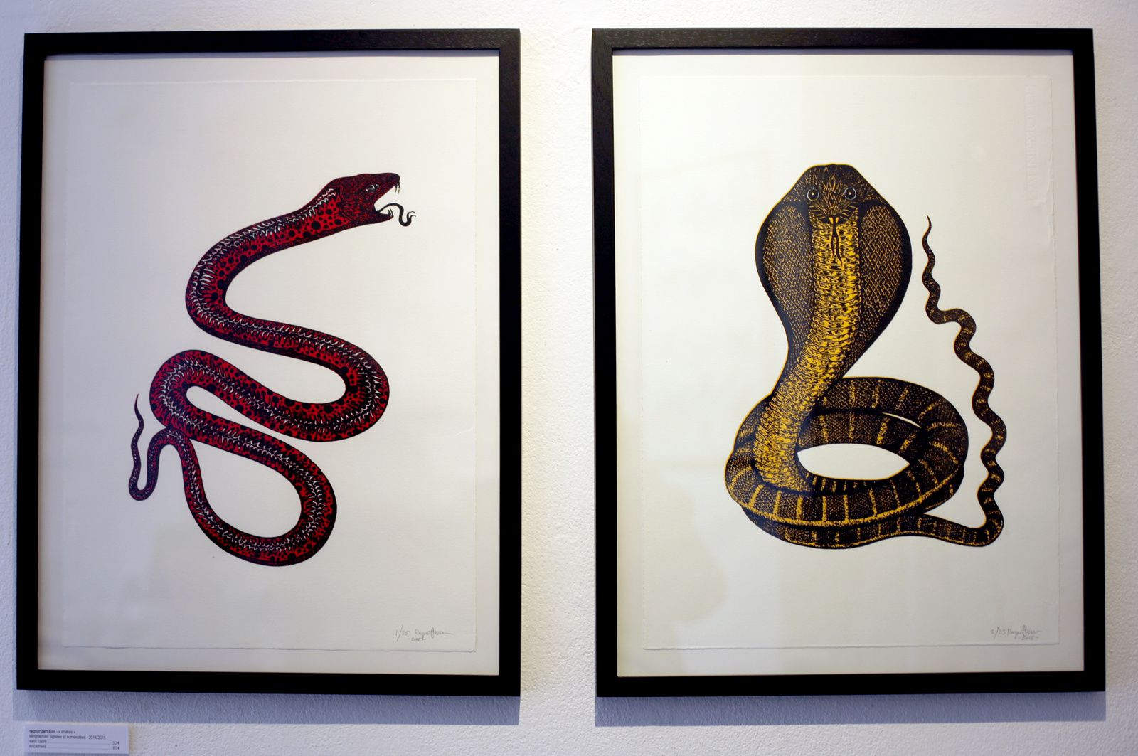 """Snakes"", 2015 de Ragnar Persson Courtesy Arts Factory © Photo Éric Simon"