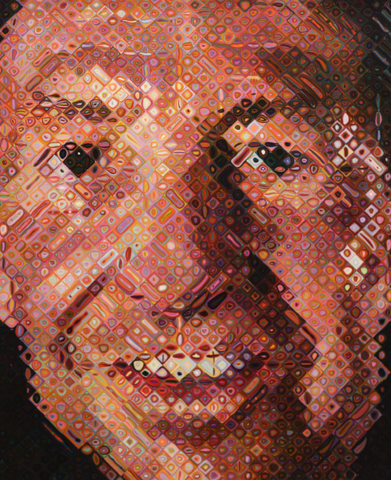 """Robert"", 1996-1997 de Chuck Close. Collection at the San Francisco Museum of Modern Art © Photo Éric Simon"