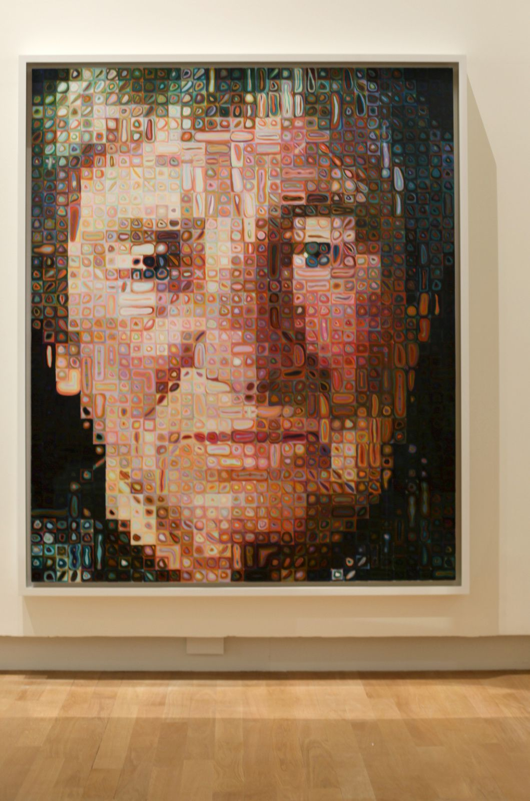 """Agnès"", 1998 de Chuck Close. The Doris et Donald Fischer Collection at the San Francisco Museum of Modern Art © Photo Éric Simon"