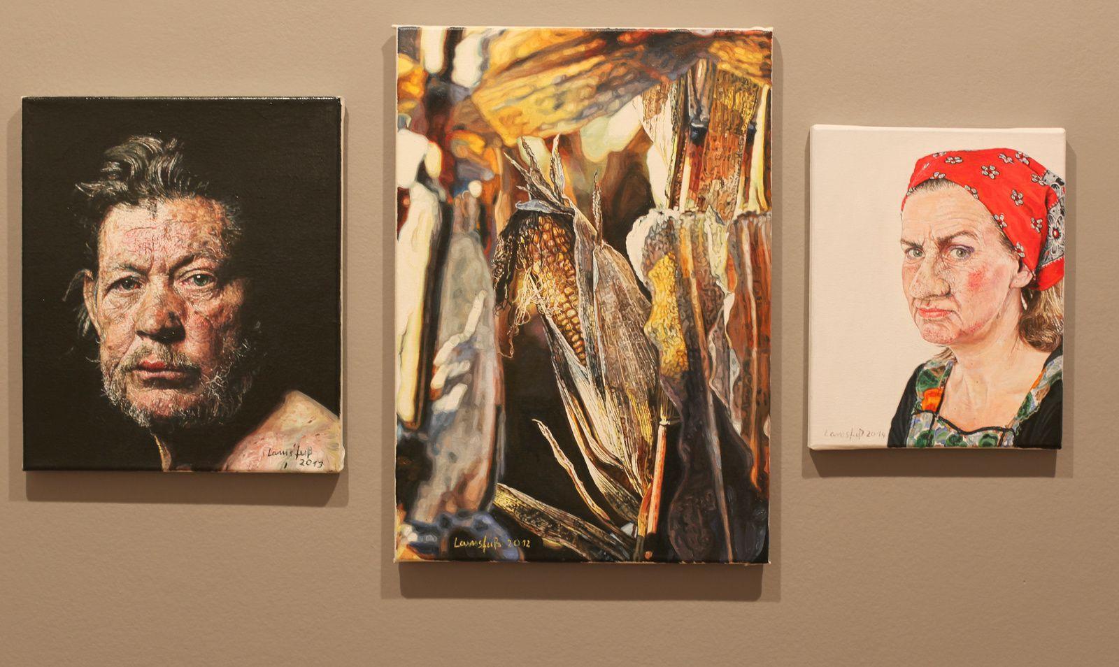 """Kristin Loschert, Maïs"", 2012 et ""Google Image Search"", 2014 d'Ulrich Lamsfuss  Courtesy Galerie Daniel Templon © Photo Éric Simon"