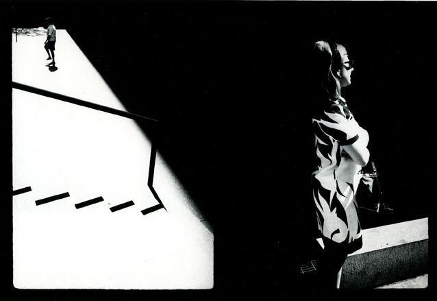 """Couplet, New York"", 1968 de Ray Metzker - Courtesy Les douches La Galerie"