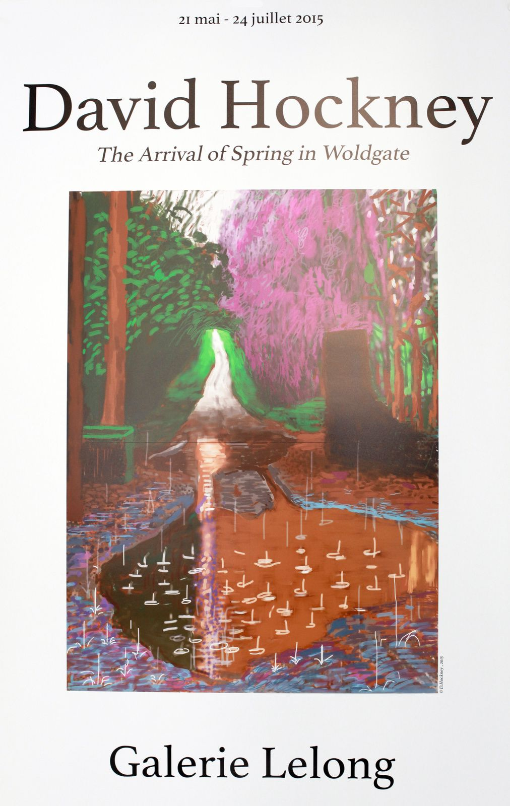 "Expo Peinture Contemporaine: David HOCKNEY ""The Arrival of Spring in Woldgate"""