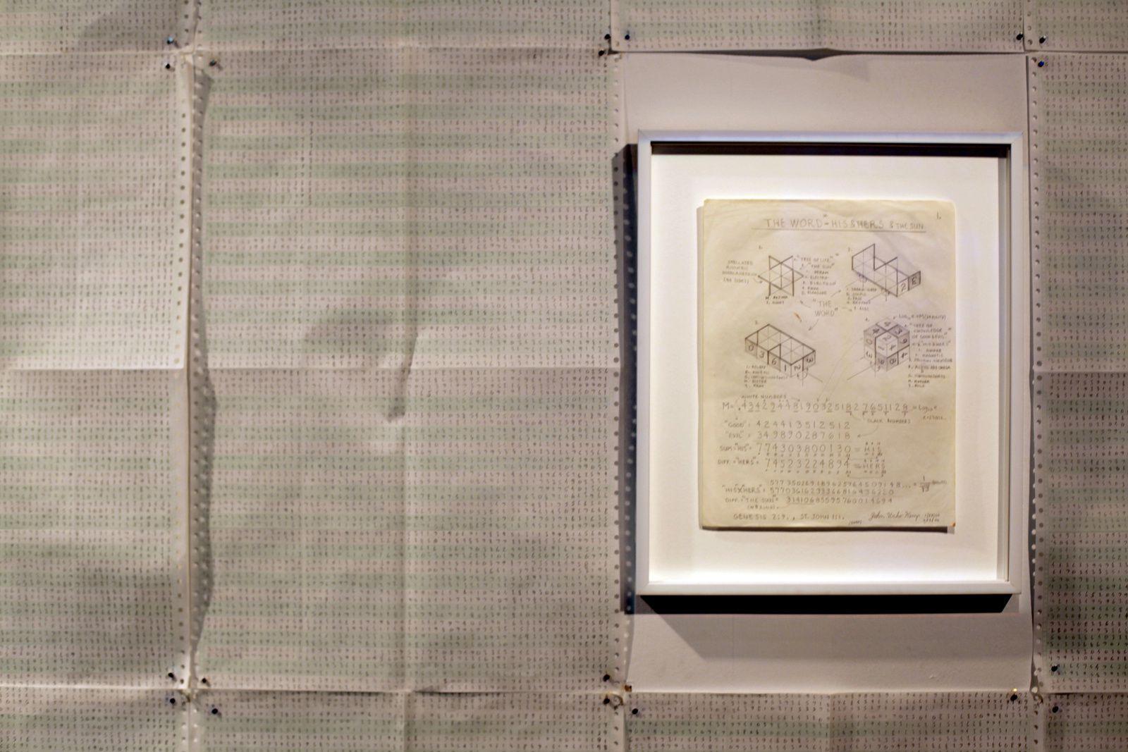 """Impressive accumulation of numerical sequences"" de John Urho Kemp - Courtesy Galerie Christian Berst © Photo Éric Simon"