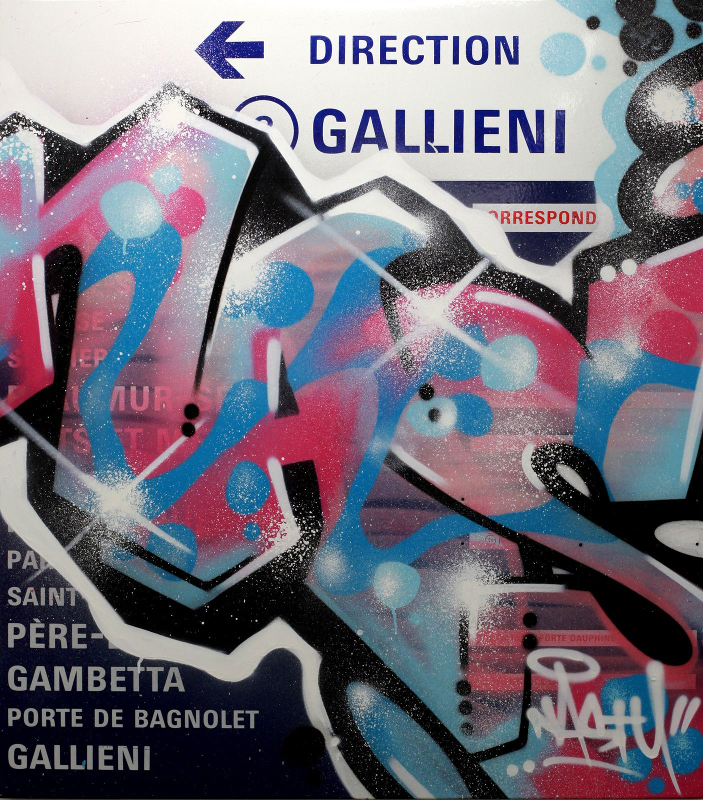 """Gallieni"", 2014 de Nasty - Courtesy Galerie Brugier-Rigail © Photo Éric Simon"